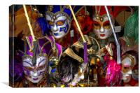 Venetian Masks, Canvas Print