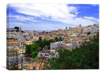 Albufeira Old Town, Canvas Print
