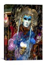 Carnival Masks, Canvas Print