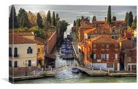 Ponte della Croce, Canvas Print