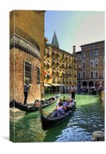 Things to do in Venice, Canvas Print