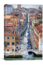 Rio della Fornace, Canvas Print