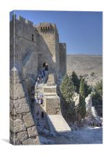 Stairs to Heaven, Lindos, Canvas Print