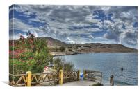 The view from Nik's Taverna, Canvas Print