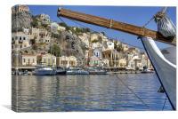 Gialos harbour view, Canvas Print