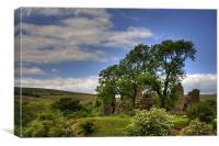 Pendragon Castle View, Canvas Print