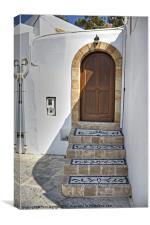 Mosaic Steps, Canvas Print