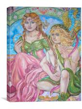 An angel and a princess., Canvas Print