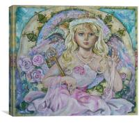 The angel of the pink sapphire., Canvas Print