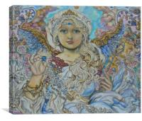 An angel of the blue crystal., Canvas Print