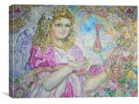 An angel of the pink crystal., Canvas Print