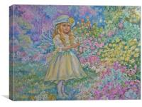 The fairy of the flower garden., Canvas Print