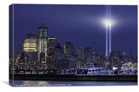 Tribute Lights and Freedom Tower, Canvas Print