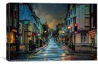 Wet Morning in Kemp Town, Canvas Print