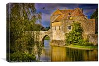 Moat and Gatehouse at Leeds Castle, Canvas Print