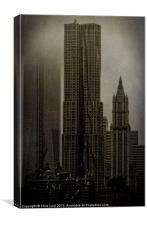 Concrete, Steel, Glass and Fog, Canvas Print