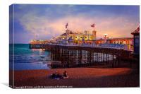 Brighton Pier at Dusk, Canvas Print