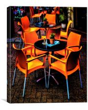 "Dining ""Al Fresco"" In Brighton, Canvas Print"