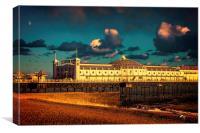 Brighton Pier Sunset, Canvas Print