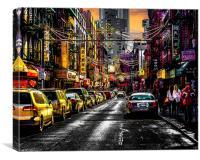 Chinatown Sunset, Canvas Print