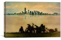 Fantasy City Skyline, Canvas Print
