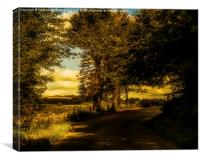 On The Road To Litlington, Canvas Print