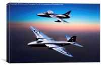 Canberra and Hawker Hunter, Canvas Print