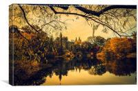 Belvedere Castle In Autumn, Canvas Print