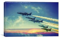 The Breitling Jet Team, Canvas Print