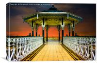 The Brighton Seafront Bandstand , Canvas Print