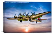 "Boeing B-17G Flying Fortress ""Yankee Lady"", Canvas Print"