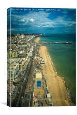 Brighton, A View From The High Tower, Canvas Print