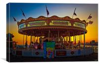 Brighton Carousel At Sunset, Canvas Print