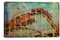 Riding the Cyclone, Canvas Print