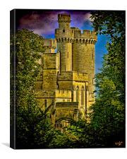 Arundel Castle Through the Trees, Canvas Print