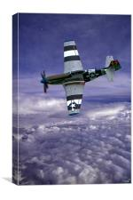 On Patrol, P51 Mustang, Canvas Print