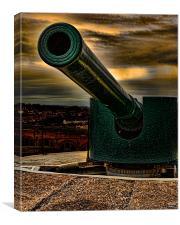Big Gun At Sun Down, Canvas Print