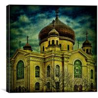 The Russian Orthodox Church, Canvas Print