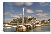 Torquay Harbour Bridge in Devon, Canvas Print