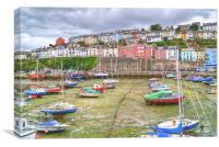 Colours of Brixham Harbour, Devon, Canvas Print