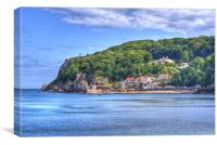 Across To Babbacombe Beach, Canvas Print
