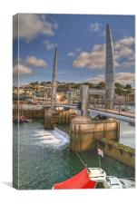 Torquay Harbour Bridge Devon, Canvas Print