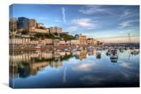 Torquay Harbour Reflections Devon, Canvas Print