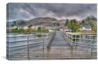 Rainy Day in Luss, Canvas Print