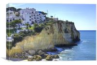 Carvoeiro Cliff Algarve, Canvas Print