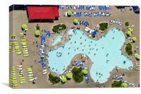 Las Vegas Pool, Canvas Print