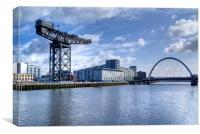 Glasgow River Clyde Arc, Canvas Print