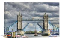 Tower Bridge Open, Canvas Print