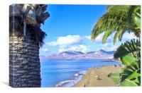 Puerto Del Carmen Beach Lanzarote, Canvas Print