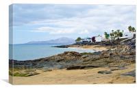 Rocky Beach in Puerto Del Carmen, Canvas Print